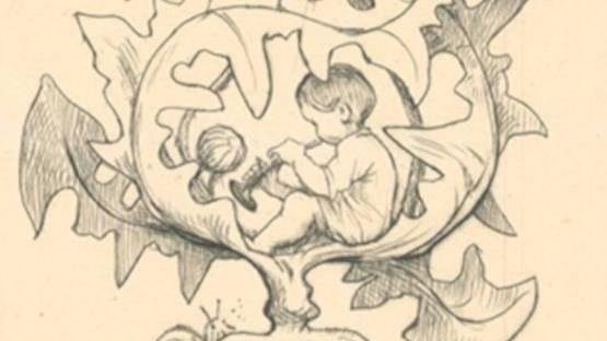 Hans Thoma - Ich kam selten aus dem Häuschen, 1909 (detail)