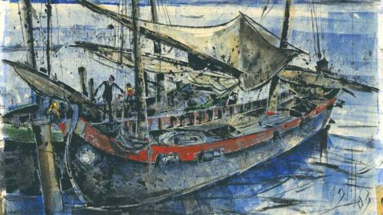 Hans Trillitzsch - Bei Venedig / In Venice, 1963 (detail)