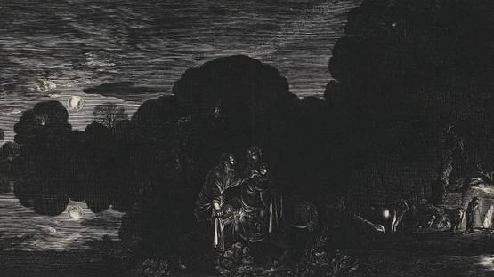 Hendrik Goudt - The Flight into Egypt (detail), photo via camunivmuseums wordpress com