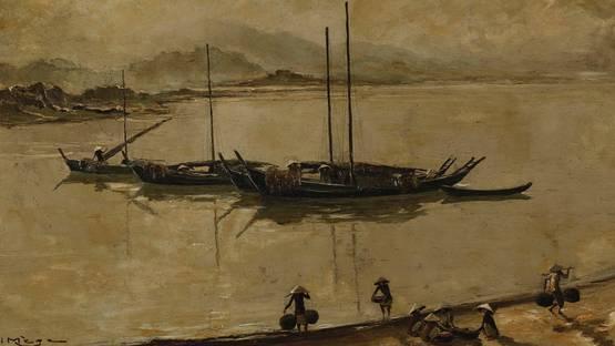 Henri Mege - Return of the fisherman - image courtesy of Blouin Artinfo