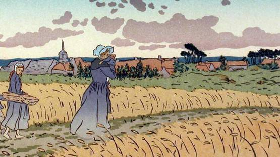 Henri Riviere - Le Bourg des Perros-Guiree (detail), 1896 - image courtesy of J D Smith Fine Art