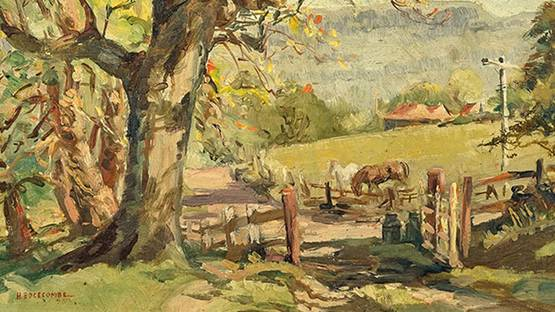 Henry Edgecombe - The Horse Farm (detail), image by Susanins