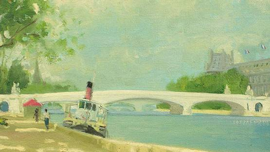 Henry Robertson Craig - By The Seine (detail)