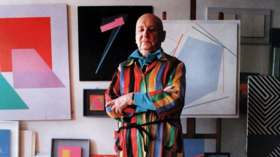 Henryk Stazewski in his studio - image via culturepl