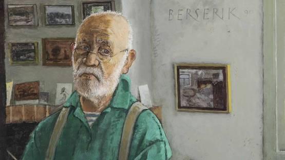 Hermanus Berserik - Portret van een 69-jarige (detail), 1990, image via christiescom