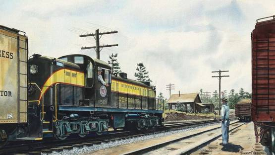 Howard L Fogg - Diesel Locomotive, circa 1965 (detail)