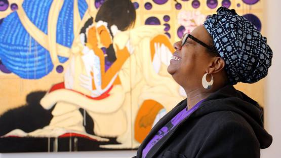 Iona Rozeal Brown, photo by Chester Higgins Jr,The New York Times