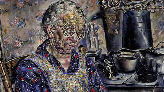 Ivan Albright - The Farmer s kitchen (detail), photo credits - Wikiart