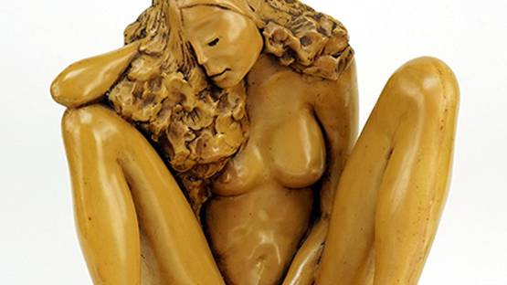 J. Leach - Seated Nude, 1980 (detail)