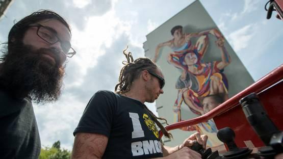 JBAK, Totem Mural, for Howoge LOA. Germanymural in Berlin, 2014