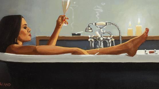 Jack Vettriano - Night Time Rituals (Detail) - image via filesstvtv