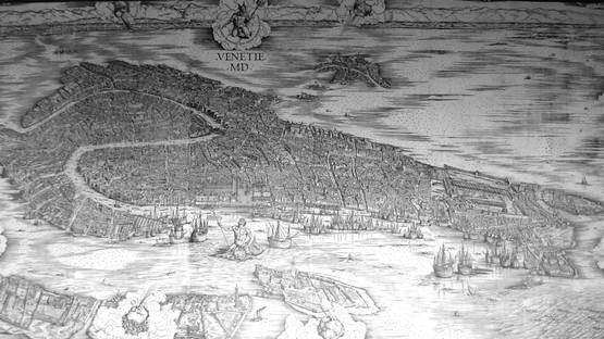 Jacopo de Barbari - Map of Venice (retouched), photo via wikipedia org