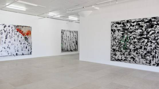 Jacqueline Humphries - show at Greene Naftali - installation view