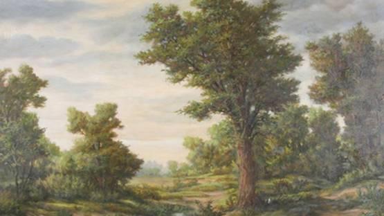 Jacques Samu Kende - Landscape, 1894 (detail)