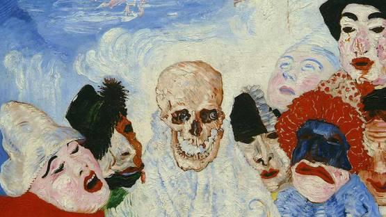 James Ensor - Masks Confronting Death, 1888 (detail) - Image via arthistoryprojectcom