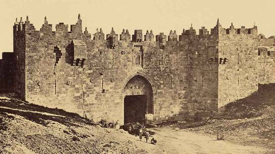 James Robertson - The Damascus Gate (detail), 1857, photo via wikiart