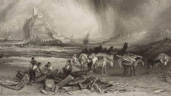 James Tibbits Willmore - Mount St Michael, Cornwall, 1838 - Image via tateorguk