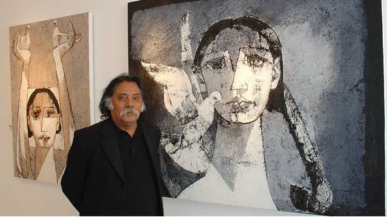 Jamil Naqsh - portrait - image courtesy of The Studio Glass Gallery