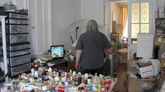 Jan Henderikse in his studio
