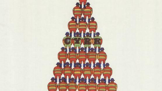 Jan Sawka - Circus Pyramid of Acrobats, 1975 (detail)