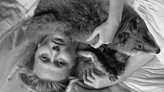 Jana Ilkova - Darina with Fox II, 2008 (detail)