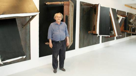 Jannis Kounellis - artist - photo courtesy of Galerie Thoman