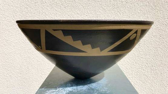 Jason Wason - Resist decorated stoneware bowl