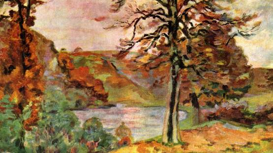 Jean-Baptiste Armand Guillaumin - Landscape (detail), 1870, photo via Wikipedia
