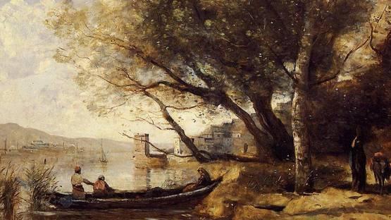 Jean-Baptiste-Camille Corot - Smyrne, Bournabat (detail), 1873 - image via commonswikimediacom