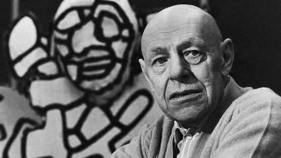 Jean Dubuffet - Photo of the artist - Image via Inge Morath, Magnum Photos