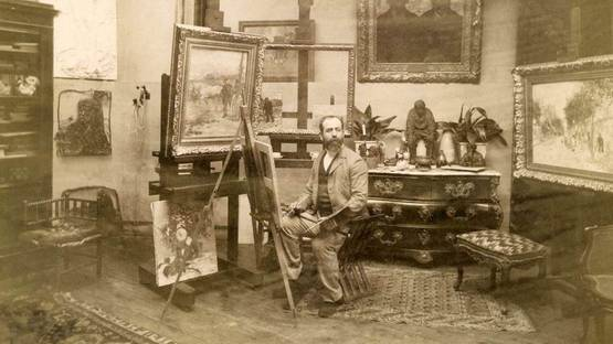 Jean-Francois Raffaelli in his Paris studio, photo via wikipedia