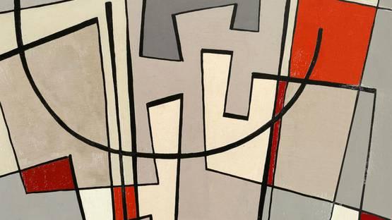 Jean Leppien - Composition (detail), photo via tumblr.com