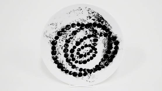 Jean-Michel Othoniel - Black Lotus Porcelain Plate, 2018