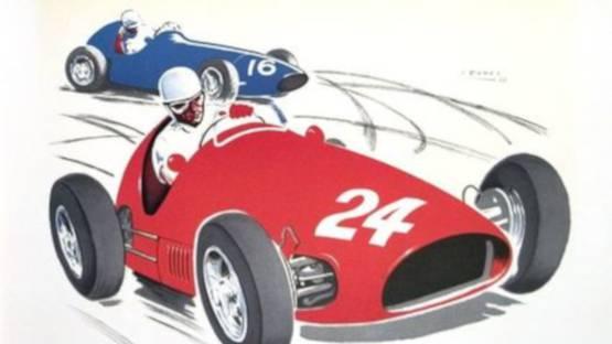 Jean Ramel - Monaco Grand Prix 1956, 1987 (detail)
