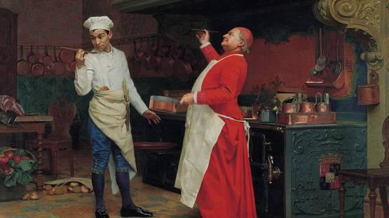 Jehan-Georges Vibert - The Marvelous Sauce, 1890