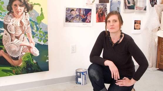 Jennifer Nehrbass in studio