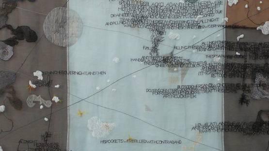 Jessica Rankin - Flat Land (detail), 2008, photo via sheepgomoo wordpress com