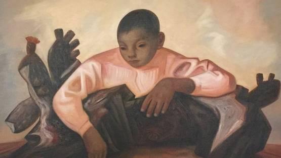 Jesus Guerrero Galvan - Niño con cactus, 1955 - Image via cloudfront