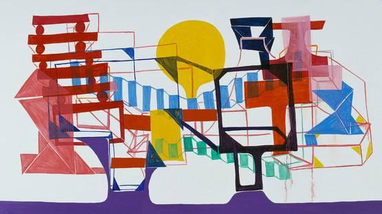 Joanne Greenbaum - Frame, 2003 - Copyright Greengrassi Gallery