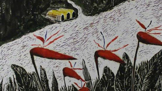 Joaquim Kettel - River Landscape, 1990 - Image courtesy of Sylvan Cole Gallery