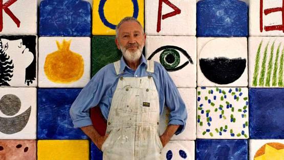 Joe Tilson portrait - Image Source Milano Arte Expo