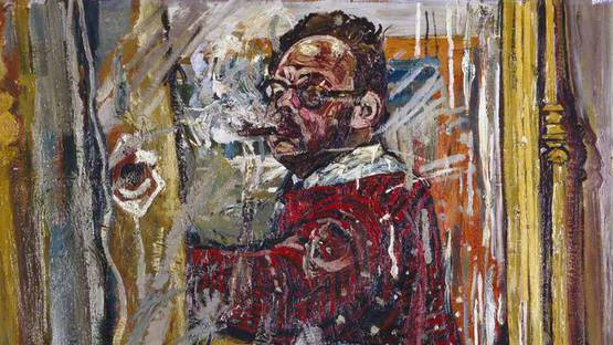 John Bratby - Self Portrait in a Mirror, 1957 (Detail) - Image source wikiart