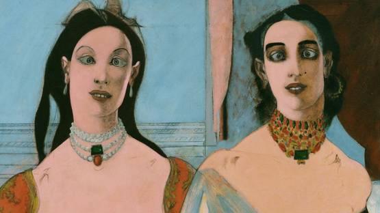 John D. Graham - Two Sisters (detail) - 1944