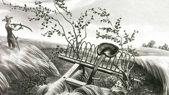 John Stockton de Martelly - Old Man Towne bought a new scythe (detail), photo by art.famsf