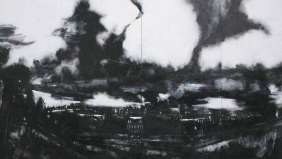 John Virtue - London paintings, 2003-2005 (detail)