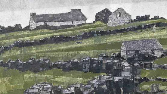 Jonas Plosky - Farm ruins - Deiniolen, Gwynedd, detail - image courtesy of Christies