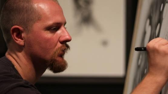 Jonathan Guthmann, artist, photo by David Russell Photography, photo credits - Invurt