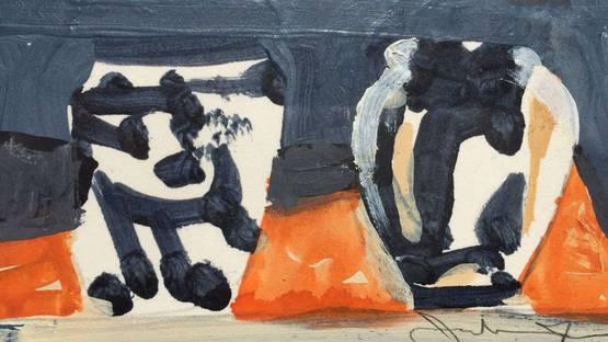 Jonathan Nash Glynn - Four Vases, 1988, detail