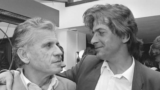 Joop Schafthuizen (Right) with his partner Gerard Reve (Left), 1984, image via wikimediaorg