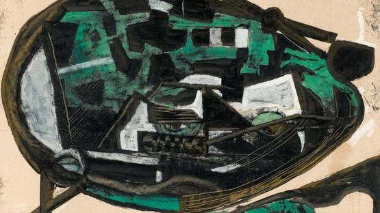Josef Fassbender - Der Stein (Detail), image via Lempertzcom